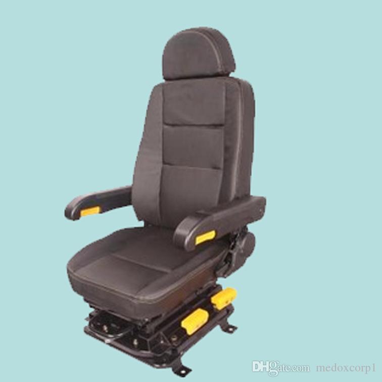Driver Seat for TAV/NTV Italo, Mechanical Suspension Shock Absorber,  Aadjustable, w/ Armrest, Headrest, Rotatable, Recliner