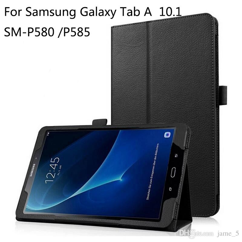 cheap for discount 4fc7f fc1fc Case for Samsung Galaxy Tab A 6 A6 10.1 P580 P585 Folio Stand Cover S-Pen  Version Tablet Case Protective Shell