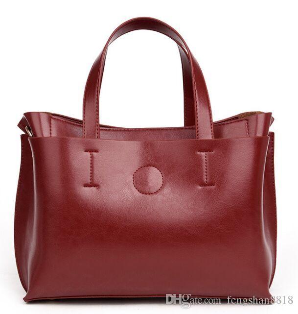 Retail Wholesale Fashion Oil Leather Feminine Handbags Shoulder Bag New  Women Messenger Bag Discount Designer Handbags Wholesale Purses From  Fengshan8818, ... bd80333ef4