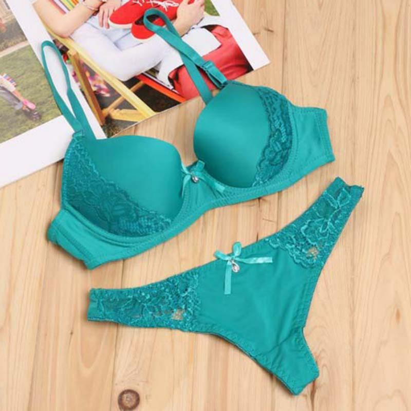2b95fbe97f3 2019 Solid Color Sexy Elegant Bra And Panty Set Women Bras Underwear Lady  Push Up Bra Lingeries Sets Brief Set Lingerie From Regine