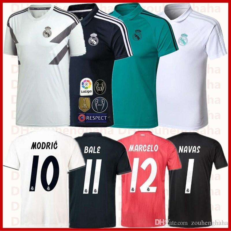 Real Madrid Camiseta De Fútbol Squad Training Top 2018 2019 Casa Visitante  Tercera Mujer Futbol Camiseta ISCO BALE POLO Portero Fútbol Maillot Por ... bb79e133835f7