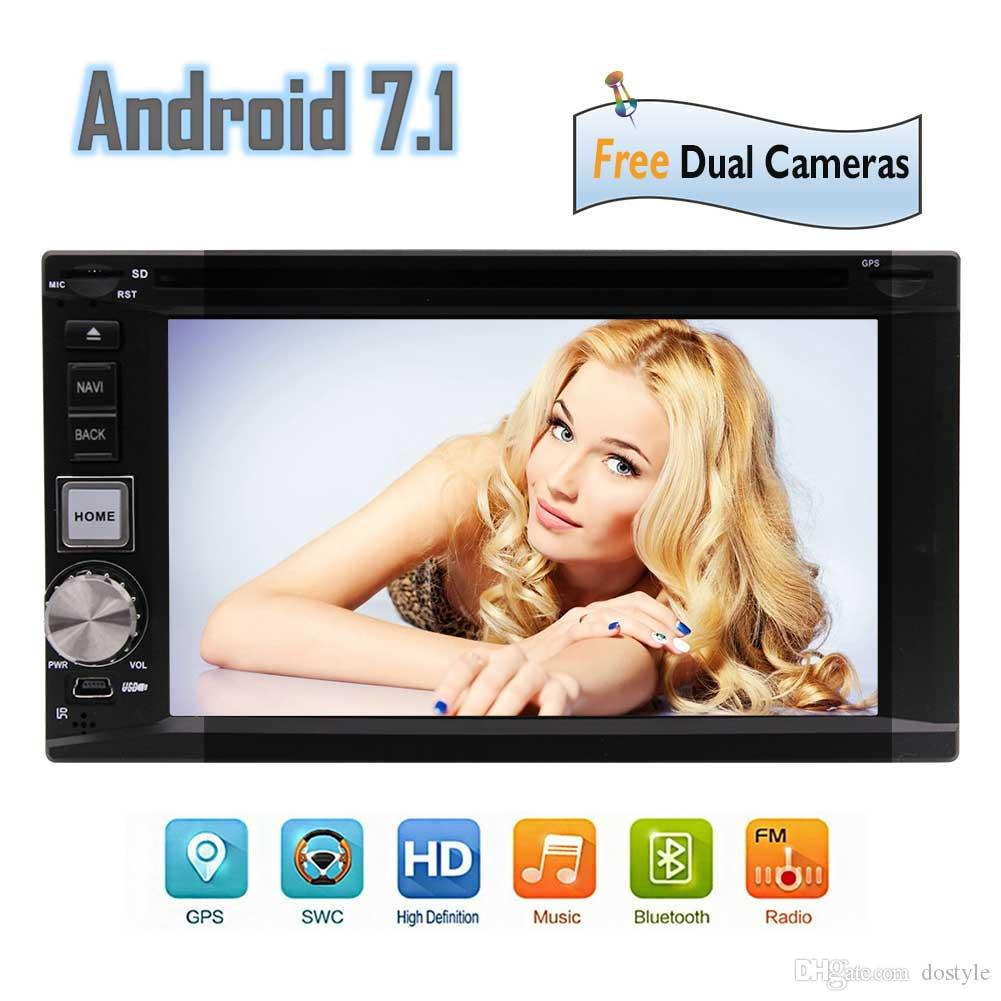 "Best Wifi Model Android 7.1 Octa-Core 6.2"" Car DVD CD player 2 Din Stereo GPS Navigation Bluetooth 2GB 32GB Front&Backup Camera"
