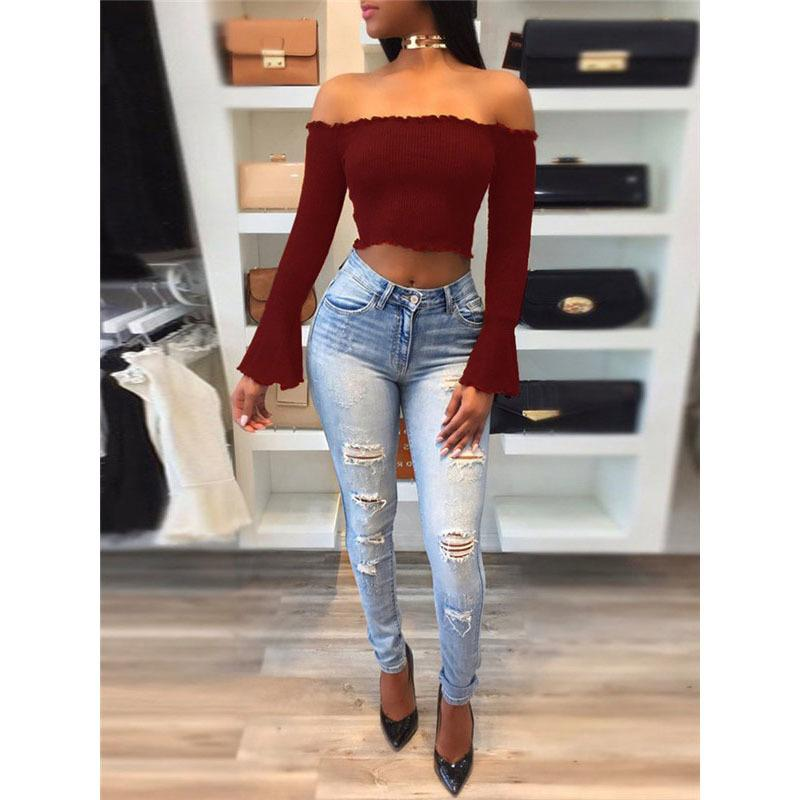 175bfe9ed06754 Off Shoulder Bustier T Shirt Women Strapless Tube Crop Top Frill Solid Tops  Corset Tee Shirt For Women T Shirts Shop Online Of T Shirts From Lixlon02