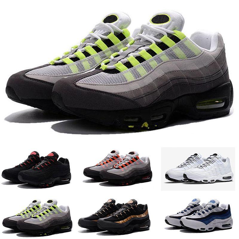 save off 89f01 b9635 Großhandel 2018 Neue 95 Männer Frauen Schuhe Authentic Nike Air Max 95  Casual Outdoor Schuhe Am Meisten Komplette Farbe Matchfor Men Top Wandern  Tennis ...