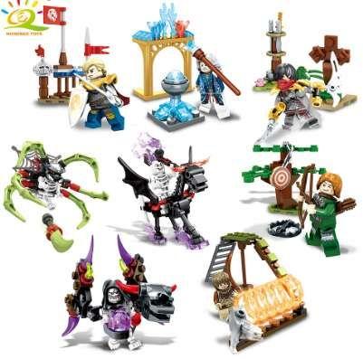 Devil Legoed Guerre Magicien Construction Blocs Briques Garçon De Classiques Pour Compatible Chiffres Jouet Enfants Éclairer 1set Knight Squelette AjLR354