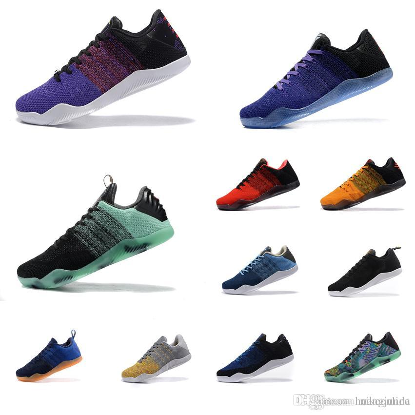 check out 07761 17c15 2019 Cheap Mens Kobe 11 XI Elite Low Basketball Shoes GCR Black Gold BHM  Blue Purple Green Prelude Master Red Yellow KB Sneakers Tennis For Sale  From ...