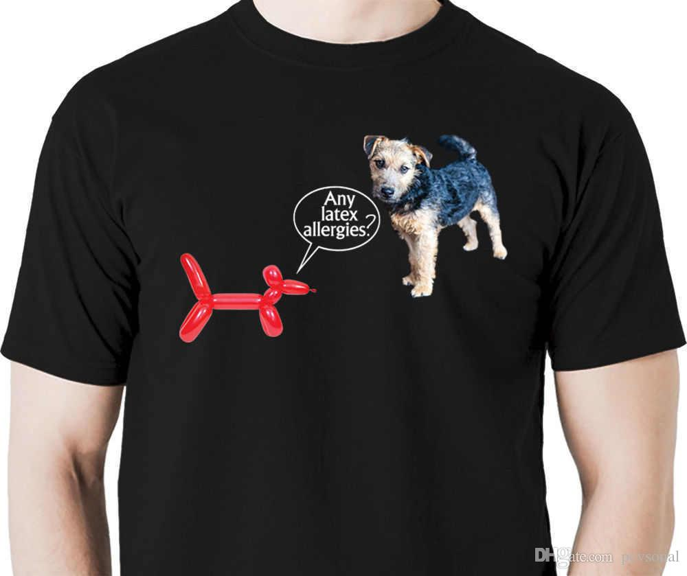 2018 New Summer T-shirts Any latex alergies balloon animal t shirt dog clown artist circus dog Hot Sale Casual Clothing