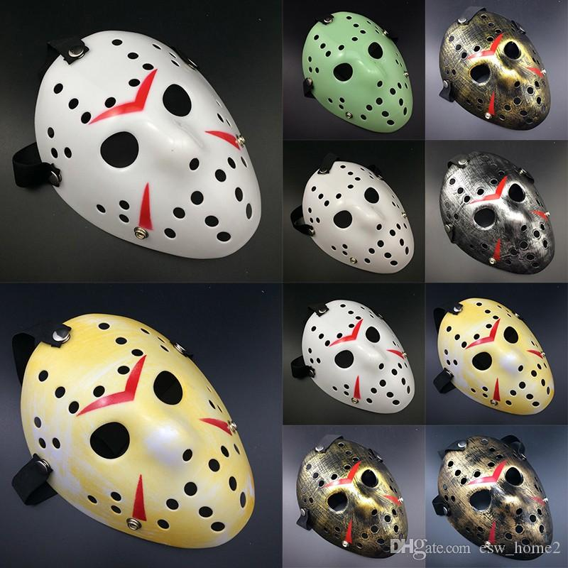 Halloween Horror Masks Jason Voorhees Friday The 13th Horror Movie Hockey Mask Various Colors of the Party Masks