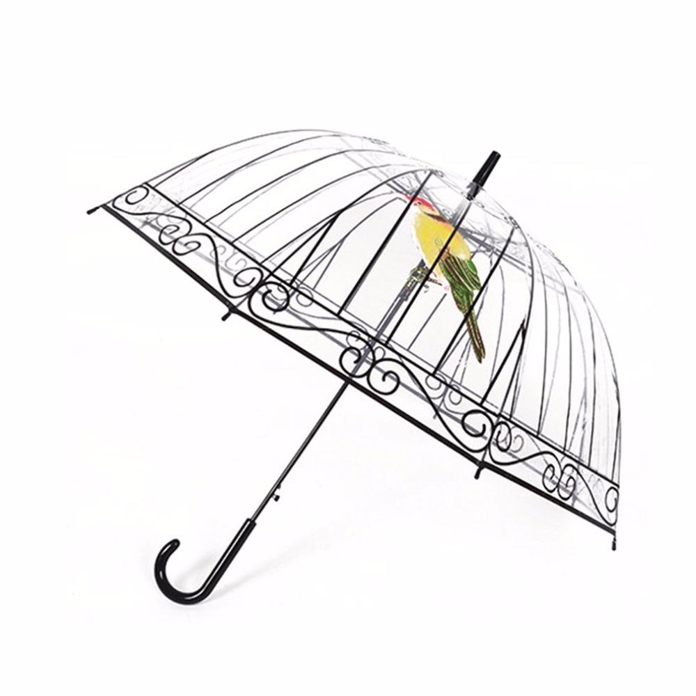 7befba155 2019 New Men Women Transparent Umbrella Creative Umbrella Long Handle  Apollo Bird In The Cage Plastic Clear For Sunny And Rainy Days From  Kingflower, ...