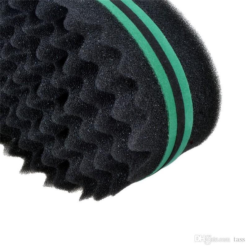 Magic Double Head Sponge Men Barber Hair Brush Black Dreads Locking Afro Twist Curl Coil Brush Hair Styling Tools Hair Care