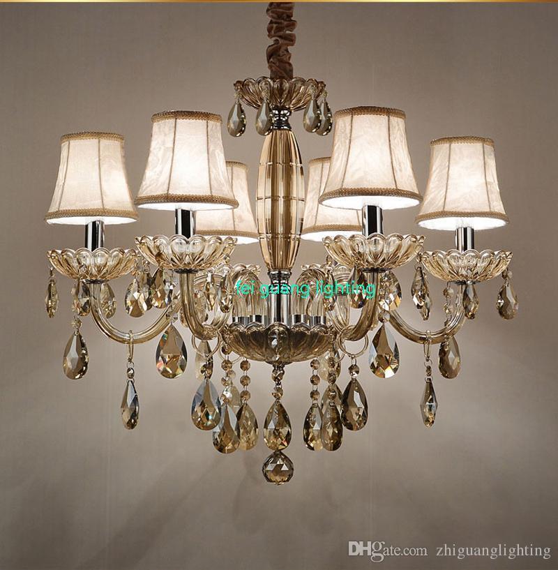 Led Licht Decke Lichter Led E14 Postmodernen Eisen Kristall Stoff Chrome Led Lampe Led Decke Licht Decke Lampe Für Foyer