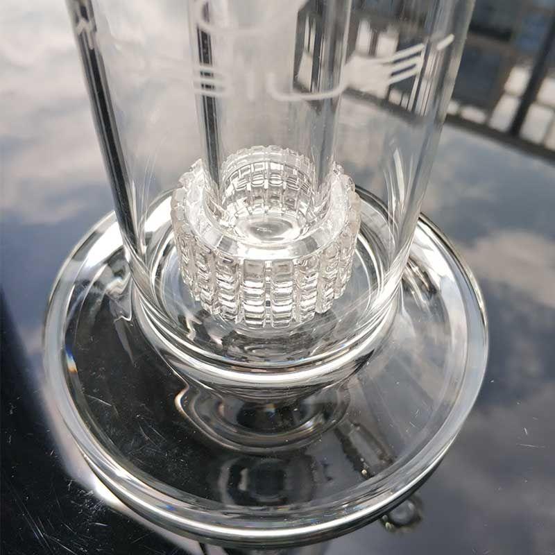 New 22,5 centímetros Alto Matrix sidecar bong gaiola perc Oil Rig grossa tubulação de água fumar size18.8mm Joint