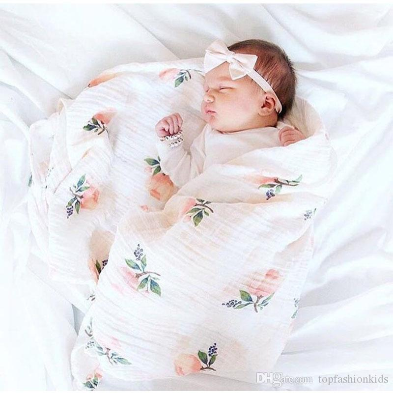d6dcb2884c13 2Layers Baby Blankets Newborn Photography Accessories Soft Breathable Swaddle  Wrap Infant Bamboo Cotton Baby Bedding Bath Towel Child Blanket Custom Baby  ...