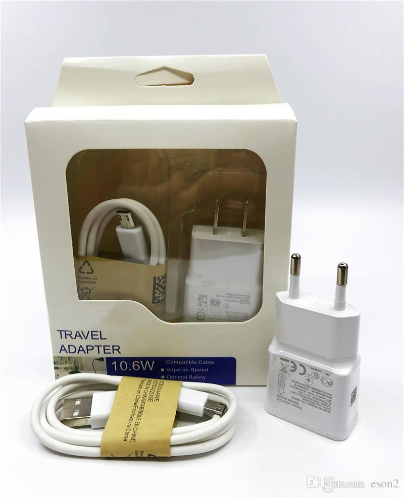 2 In 1 Eu Us Plug Adapter Wall Charger Kits 1m 3ft Usb 20 Data Sync Samsung Ac Wiring Cable With Retail Package For Galaxy S5 S6 S7 Powerbank 5600 Mah 5600mah Power