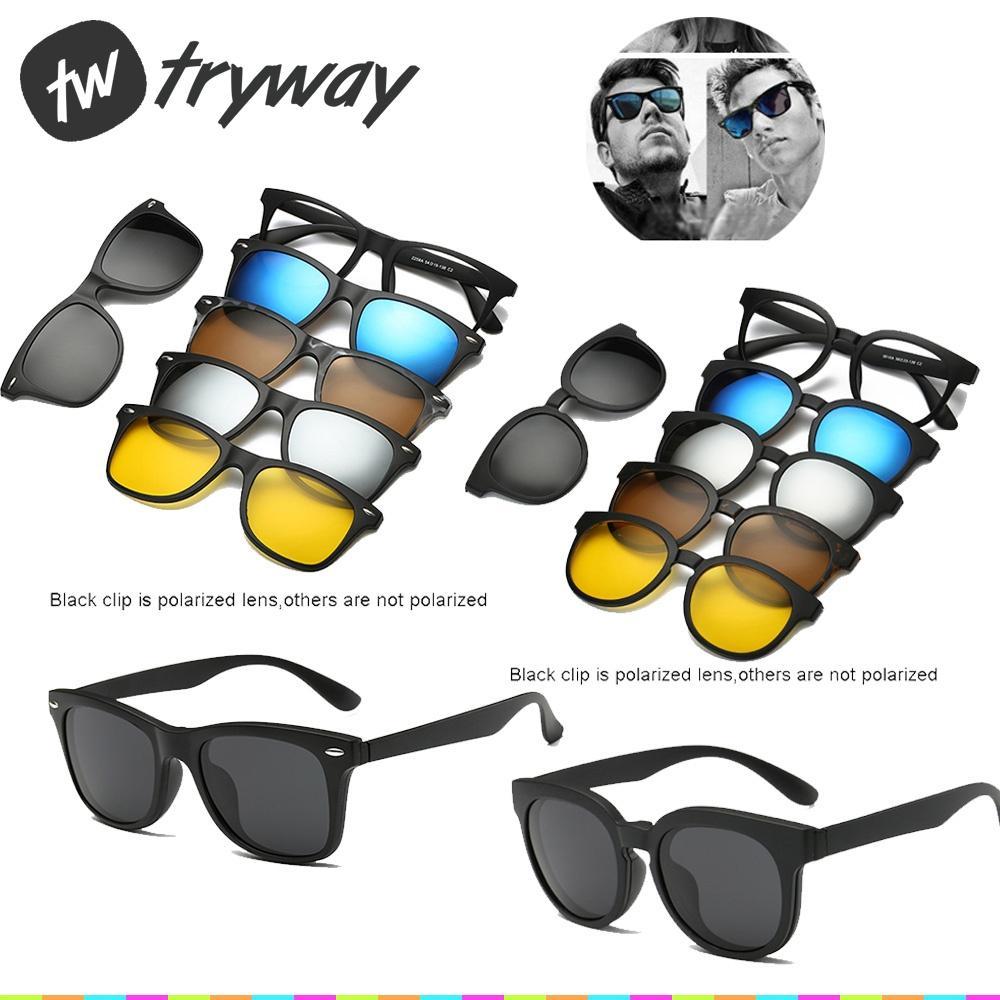 0c03c07749 Compre Nuevo Clip De Gafas De Sol Imán En Las Gafas De Sol UV400 Lentes De  Senderismo 5 Polarizadas Gafas De Conducir Con Espejo Vidrios De Miopía  Recetados ...