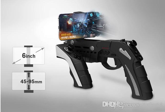 1 pcs Bluetooth games pistols apple phones jailbreak free Android flat wireless Bluetooth handles free DHL