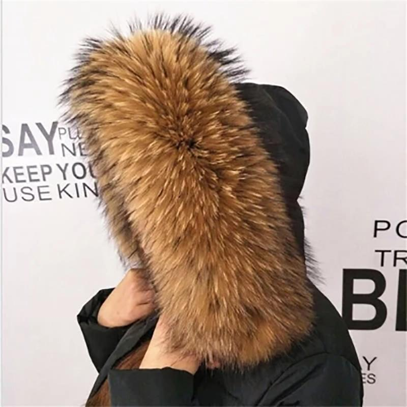 cd058c8e5c4 Winter Real Raccoon Fur Collar 100% Natural Raccoon Fur Scarf 70CM Fashion  Coat Sweater Scarves Collar Neck Cap 70 15 Mens Silk Scarves Womens Scarves  From ...