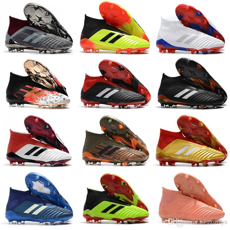 a3d89549b Hot Sell 2018 World Cup Top Quality Falcon 18.1 18+ Soccer Shoes FG  Football Boots Soccer Cleats Sneakers Designer Shoes Mens Shoes Scholl Shoes  Leopard ...