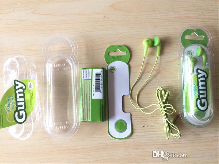 GUMY Gummy HA-F150 EARPHONES HEADPHONES In-Ear Earphoness 3.5mm for ipod ipad iPhone8 7 6 6s plus Samsung S7 S6 Edge MP3 MP4