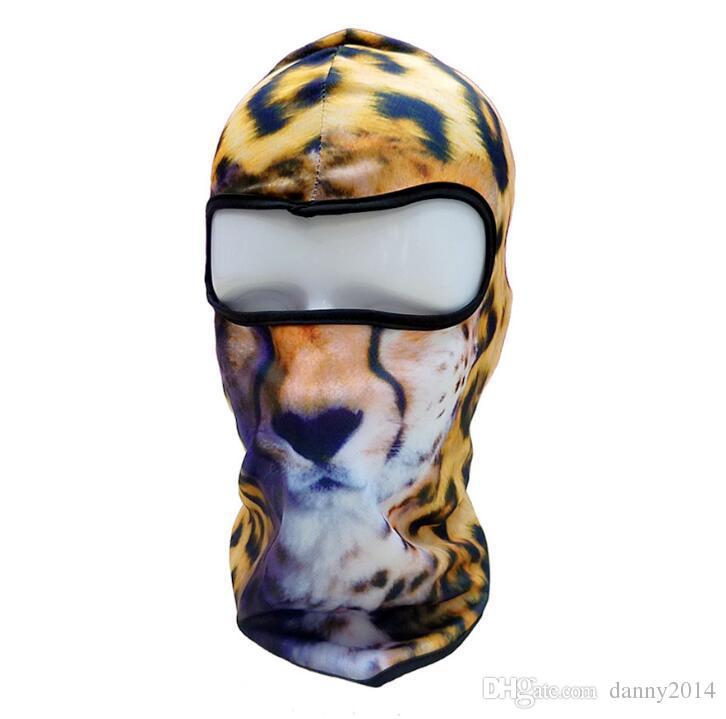 3D животных кошка собака велосипед шляпы Балаклава Хэллоуин Сноуборд зима теплее ветрозащитный шлем лайнер анфас маска для мужчин женщин