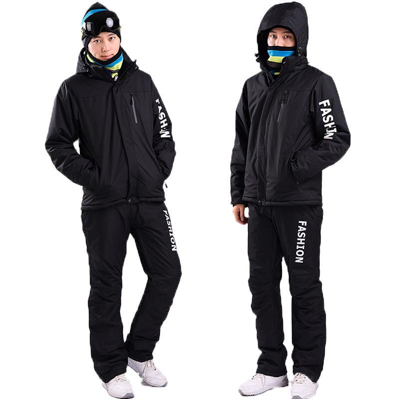 À Costume Du De Chaud Air Code Au Noir Combinaison Ski Garder Plein Épreuve Épaississement Grand L Vent Veste En Imperméable Homme Pantalon y0OPNnwvm8