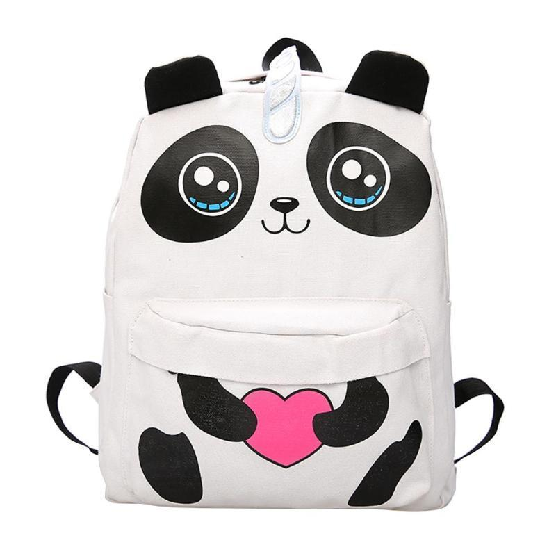 fb7ec08f9 Compre NEW 3D Panda Lona Mochila Meninas Adolescentes Mochila Escolar  Mulheres Grande Capacidade De Viagem Mochila Bolsa Feminina De Selfport, ...