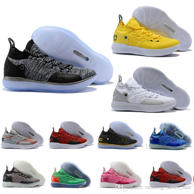 online store 4a6ea c0153 ... new arrivals großhandel hohe qualität kd 11 herren basketball schuhe  bunte grau schwarz gelb sturm oreo