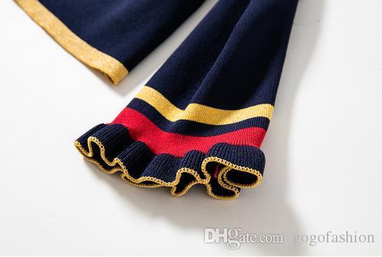 2018 Spring Brand Stessi vestiti in due pezzi di stile sopra il ginocchio Regular Empire Button Fashion Abiti casual
