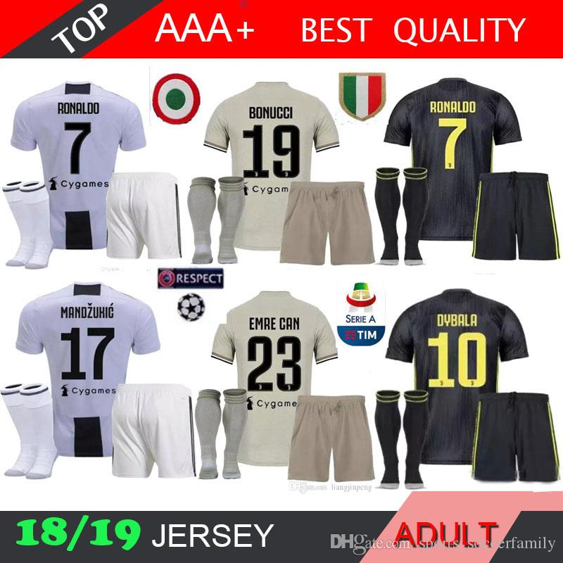 new product b2156 53175 Ronaldo 18 19 home jersey 2018 2019 men kit sock Bernardeschi DYBALA  HIGUAIN Away third 3RD Football shirt D. Costa Pjanic adult jersey