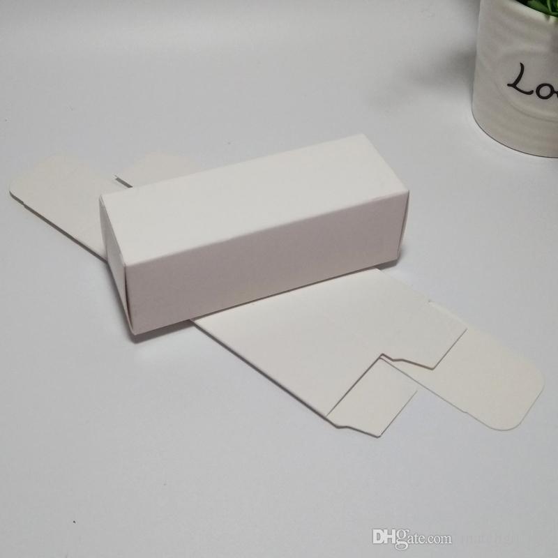 4 * 4 * 12 cm Marrom / Branco / Preto em Branco Caixa de Papel Kraft para válvulas Cosméticas tubos Artesanato Caixa de Embalagem de Presente de Vela