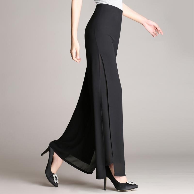 Women Vintage High-waisted Long Pants Palazzo Baggy Wide Leg Loose Sequin Trousers Hot Bottoms