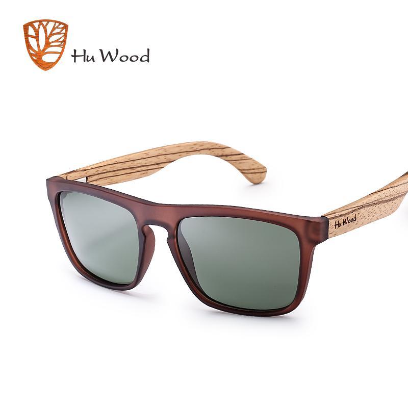 1f75dcdd05c6e Compre HU MADEIRA Óculos De Sol De Bambu Natural Para Homens Zebra Óculos  De Sol De Madeira Polarizada Óculos De Sol Retângulo Lentes De Condução  UV400 ...
