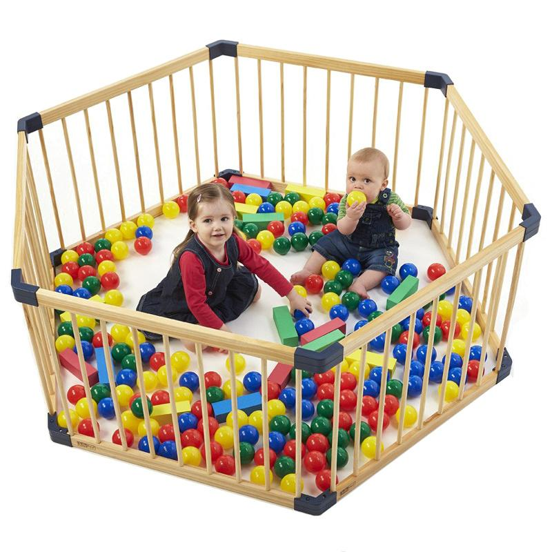 2019 Solid Wood Gate Baby Playpen Export No Smell Health Baby Fence