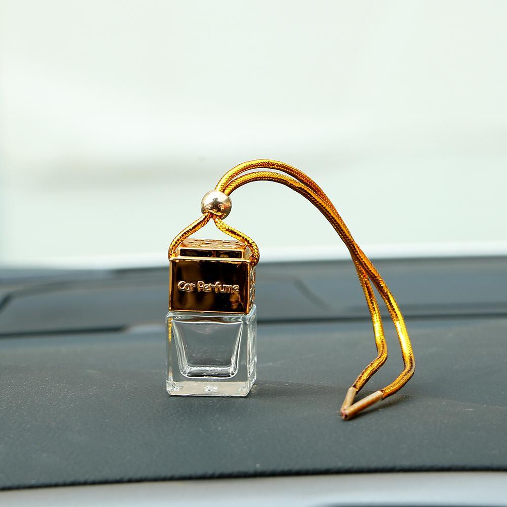 Пустая стеклянная бутылка для эфирных масел диффузор зеркало заднего вида украшения автомобиля висит духи Аромат освежитель воздуха автомобилей укладка