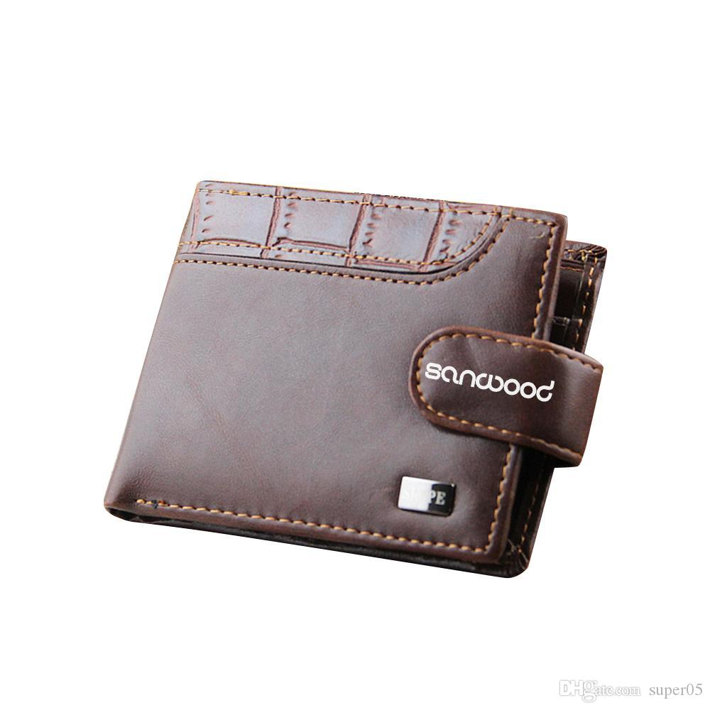 b1b977f3793d Men Bifold Faux Leather ID Card Holder Money Clutch Billfold Coin Wallet  Purse BVR6