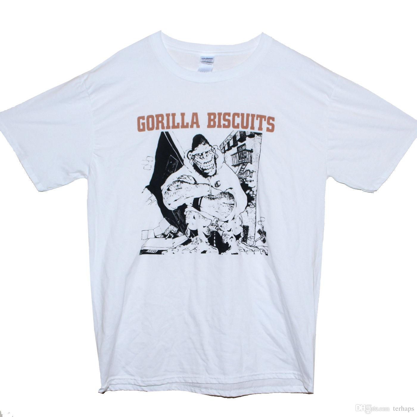 83a28d3d4 GORILLA BISCUITS T SHIRT Hardcore Punk Rock NOFX Minor Threat Band Graphic  Tee Funny Slogan T Shirts Cool Shirt Design From Terhaps, $10.89  DHgate.Com