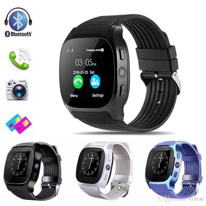 T8 Smart Watch Pedometer Remote Camera Music Player Bluetooth Smartwatch Support SIM TF Card for Android Smart Phone