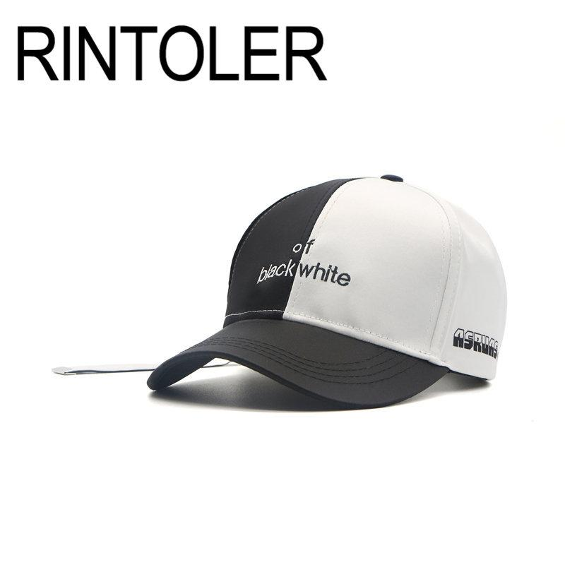 5175429802d84 2018 Fashion Custom Snapback Baseball Caps Black And White Patchwork Men  Women Hip Hop Cap Casual Hat Hat Stores Custom Trucker Hats From Linyicity