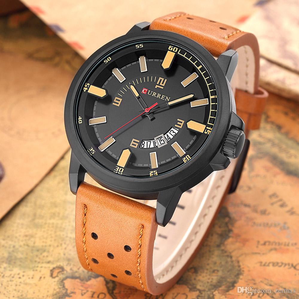 5f6935f23e0 CURREN Sports Watches Men Luxury Brand Leather Strap Men s Army ...
