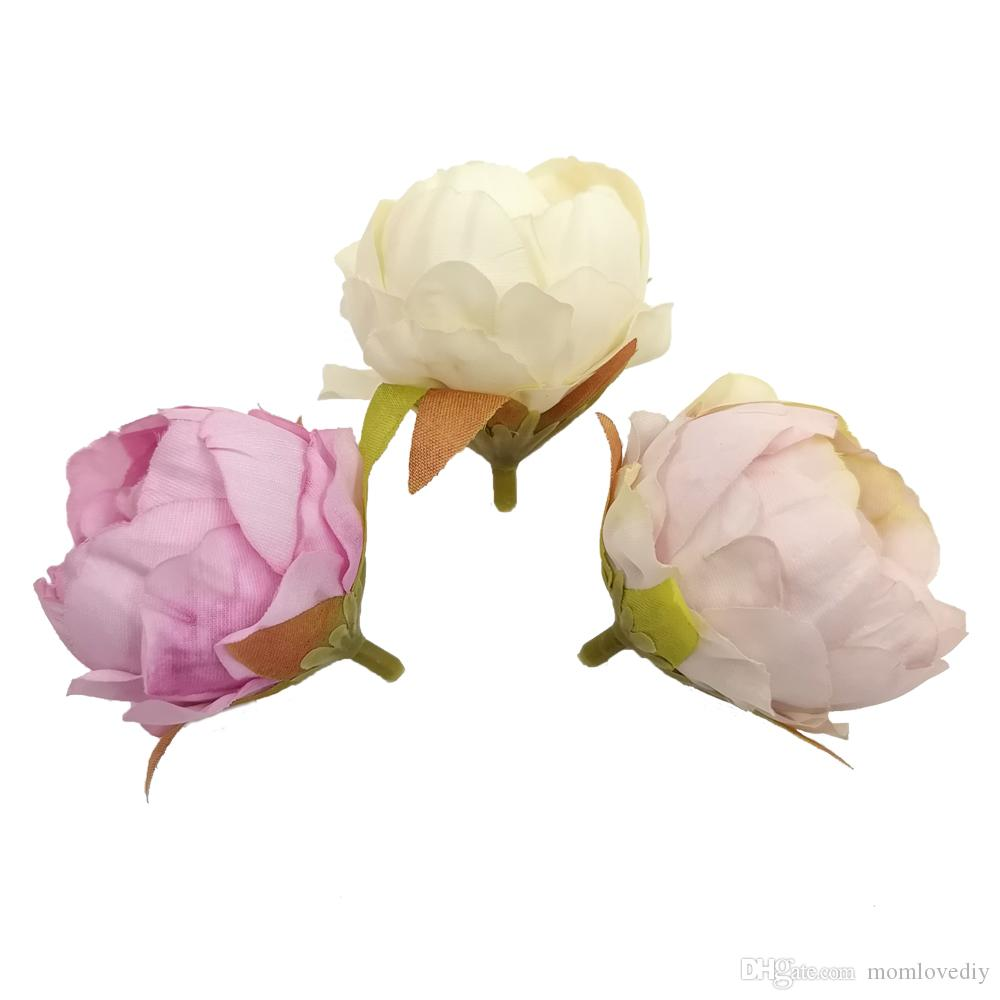 2018 2 Silk Fabric Ranunculus Foam Flowers Supplies Wholesale