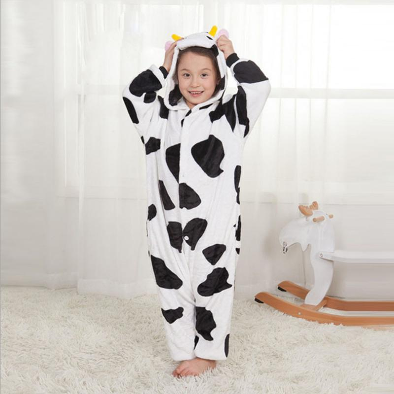 03c8916c4edce Acheter Pyjama En Flanelle Enfants Cosplay Cartoon Animal Bébé Garçons  Filles Pyjamas Maison Vêtements Une Pièce Vêtements De Nuit La Vache De   38.23 Du ...
