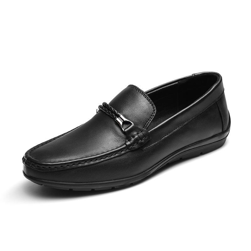 Compre Esmoquin Azul Los Zapatos Moda Solo Tamaño Negro Charol Más La De  Cómoda Boda Lujo ... 61529efaf722