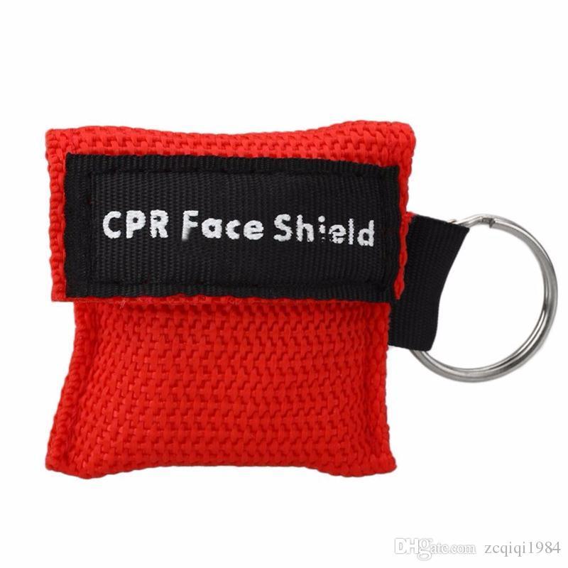 Смешать цвет СЛР реаниматолог Маска брелок аварийный щиток для лица односторонний клапан первой помощи СЛР маска для здравоохранения