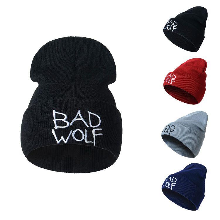 Compre Diseñador Bad Wolf Letras Bordado Gorros Sombreros Hip Hop ...