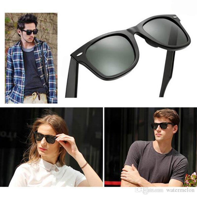 8524c167430 High Quality Plank Sunglasses Wayfarers Black Frame Green Lens Sun Glasses  Metal Hinge Sunglasses Men S Sunglasses Women S Glasses Unisex Prescription  ...