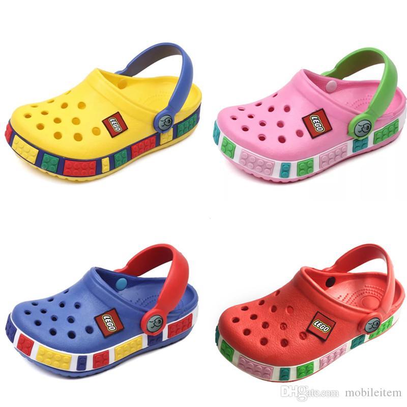 Boutique 7color Niños Zuecos Moda Bebé Mayor 2055 Dibujos Zapatos Por Niñas Al Zapatillas Verano Animados Y Sandalias Playa De Fl3K1JcT