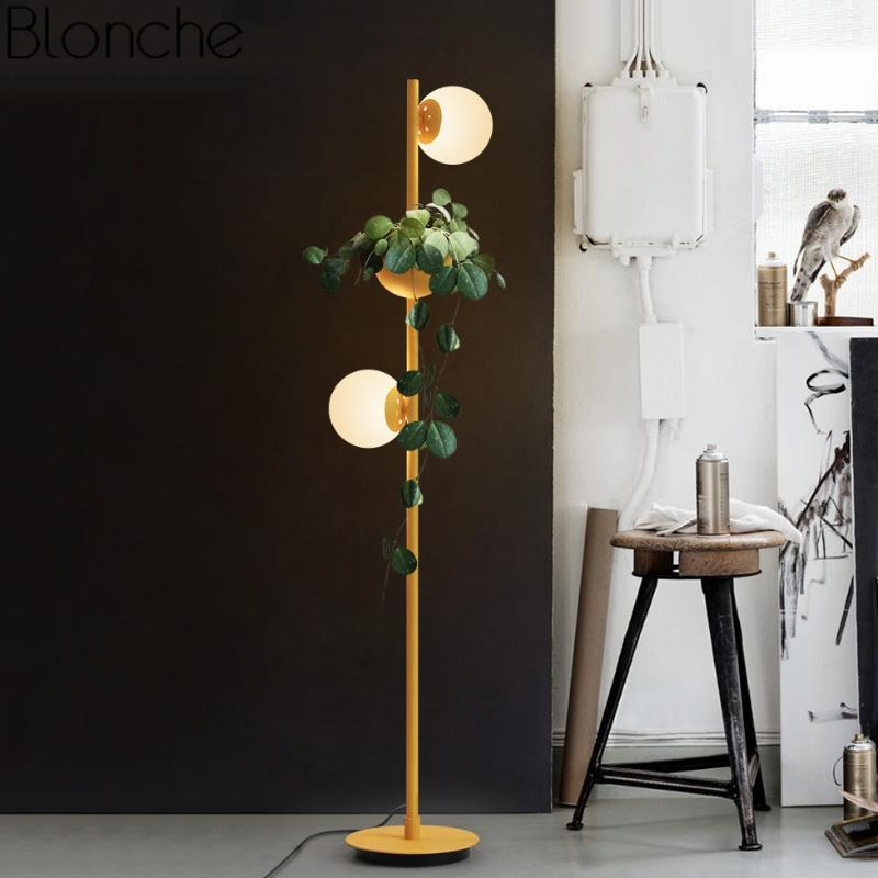Grosshandel Moderne Glaskugel Led Stehlampen Diy Pflanze Stand