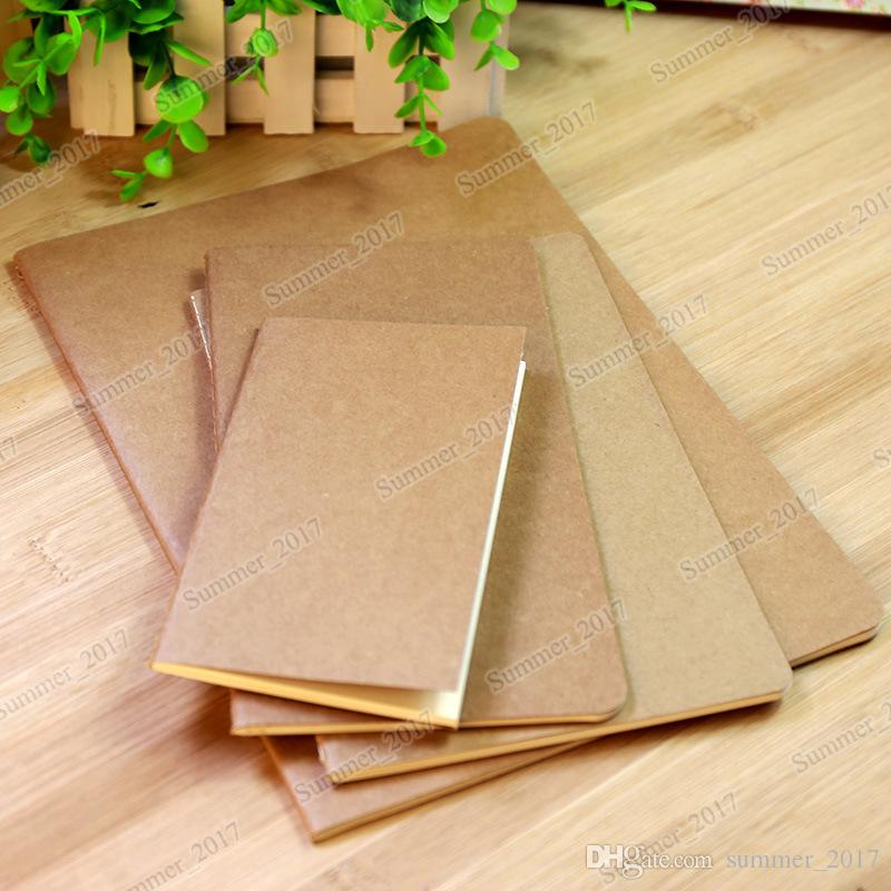 Wholesale cowhide paper notebook blank notepad book vintage soft copybook daily memos Kraft cover journal notebooks