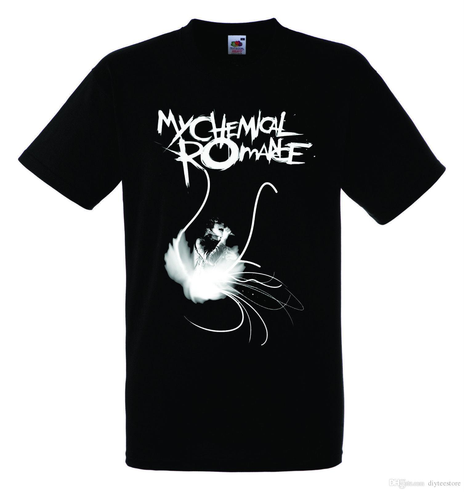 9f01d2de0ce My Chemical Romance Logo Black New T Shirt Rock T Shirt Rock Band Shirt  Shirt Men Leisure Short Sleeve Crewneck Cotton Plus Size Couple T Sh Shirt  Site ...