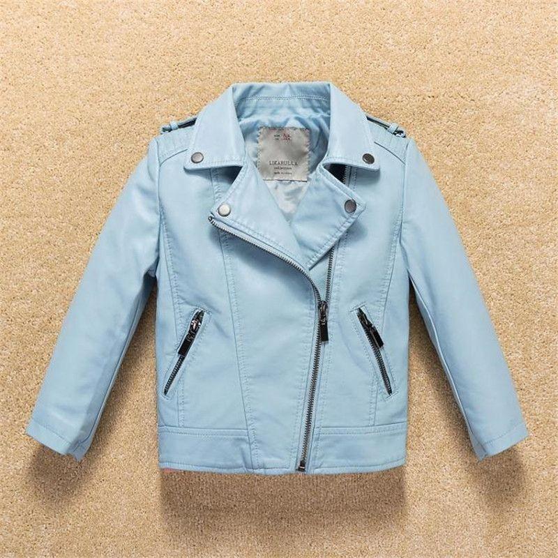 Giacca ragazze 2017 Top Fashion Bambini Cappotto maniche lunghe giacca in pelle pu imbottito Capispalla Neonati Vestiti Casaco Infantil